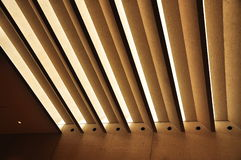 Shading structure. Concrete shading structure with Horizontal blinds Royalty Free Stock Images