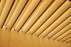 Shading structure. Concrete shading structure with Horizontal blinds Stock Photography
