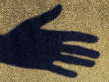 Shadom de una mano Foto de archivo libre de regalías