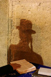 Shadow-2. Shadow of a jew praying near the western wall Royalty Free Stock Photo