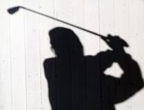 Shadow. Of a golf player Royalty Free Stock Photos