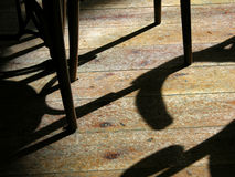 Shadow. Shade of chair on wood ground Royalty Free Stock Photos