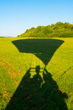 Shadow of a aerostat before starting Royalty Free Stock Photo