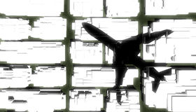 Shadow of airplane Royalty Free Stock Photo