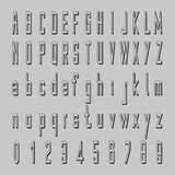 Shadow alphabet vector, 3D font design, letters and numbers Royalty Free Stock Image