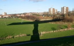 Shadow of The Angel of the North. In the shadow of The Angel of the North Stock Image