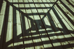 Shadow, architecture, wood texture Stock Photography