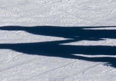 Shadow background of group of teenagers on the ice Stock Photo