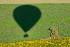 Shadow of a balloon Royalty Free Stock Images