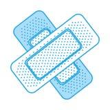 Shadow bandage plaster cartoon. Shadow blue bandage plaster cartoon vector graphic design royalty free illustration