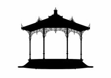 Shadow of a bandstand. Vector illustration of a bandstand, EPS 8 file Stock Image