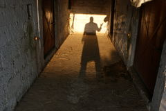 Shadow in the barn royalty free stock image