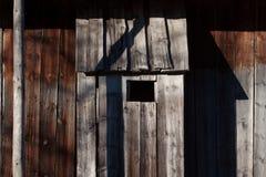 Shadow on barn Royalty Free Stock Image