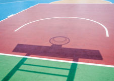 Shadow of basketball hoop Royalty Free Stock Image