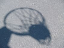 A shadow of basketball hoop Royalty Free Stock Photography