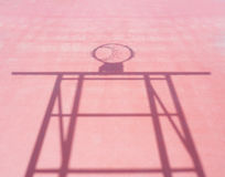 Shadow of basketball hoop stand Royalty Free Stock Image