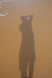Shadow on the beach. Stock Photo