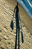 Shadow - beach walking Royalty Free Stock Photo