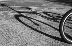 Shadow of a bicycle Royalty Free Stock Photo