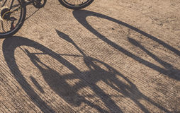 Shadow of a bicycle Royalty Free Stock Photography