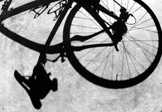 Shadow of Bike Royalty Free Stock Photography