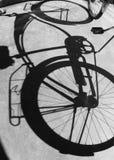 Shadow of Bike Royalty Free Stock Photos