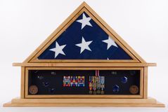 Shadow Box. Of an American military hero Royalty Free Stock Images