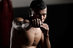 Shadow boxing Royalty Free Stock Images