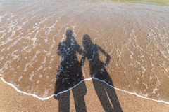 Shadow Of Boyfriend And Girlfriend Lovers Taking Photos Stock Photos