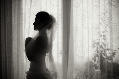 Shadow of the bride Royalty Free Stock Images