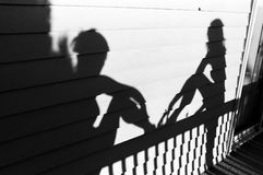 Shadow of bridesmaids royalty free stock images