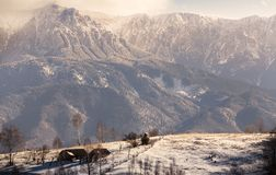 In the shadow of Bucegi Mountains Stock Photo