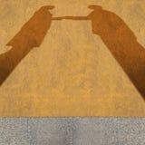 Shadow of business handshake Royalty Free Stock Photos