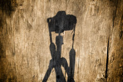 Shadow of a camera Royalty Free Stock Images