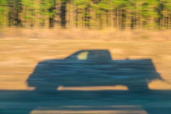 Shadow of car in motion Royalty Free Stock Photography