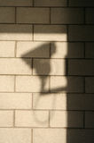 Shadow of CCTV camera Royalty Free Stock Photos