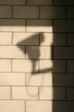 Shadow of CCTV camera royalty free stock photos