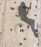 Shadow Climbing Rock Wall Stock Photography