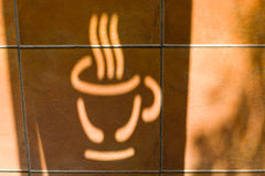 Shadow of coffee logo Stock Photo