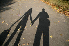 Shadow of couple Royalty Free Stock Photography