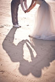 Shadow of couple when they're kissing Stock Photos