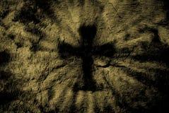 Shadow of cross Stock Image