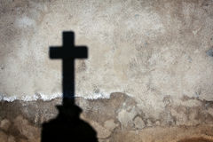 Shadow of a cross Stock Image