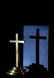 Shadow cross Stock Image