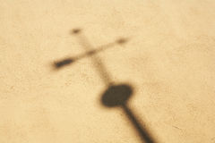 Shadow cross Royalty Free Stock Photos