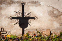 Shadow of a cross Royalty Free Stock Photo