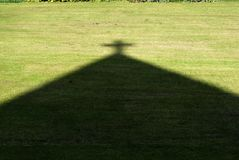 Shadow of a cross-shape Royalty Free Stock Images