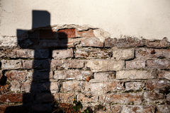 Shadow of a cross Royalty Free Stock Photography