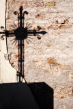 Shadow of a cross Stock Images