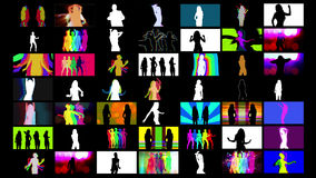 Shadow dancers Stock Images